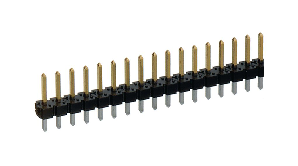 Köp 890 Straight Male PCB Header, Through Hole, 1 Row, 36 Contact, 2.54mm Pitch
